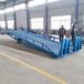广东清远现货供应6/8/10吨移动式登车桥箱货装卸高度调节板手动液压桥