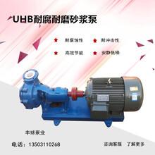 丰球泵业80UHB-ZK-50-30耐磨耐腐砂浆泵衬氟化工防腐泵图片