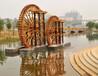 西安腳踏式水車,景觀水車,防腐木水車,室內水車