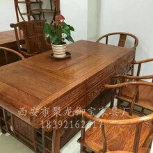 西安榆木茶桌厂家,仿古茶桌价格,实木茶桌以及红木茶桌定制图片