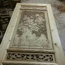 精雕木门花窗厂家_中式仿古雕刻门窗_实木雕刻图片设计