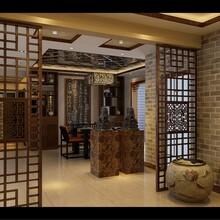 四川成都花格木從鳳凰-中式木門-實木雕花花格-中式木門窗圖片