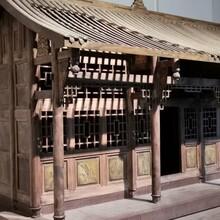 四川仿古門窗-中式屏風-防腐木花箱-實木雕花掛件圖片