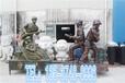 信宜人像雕塑廠家定制玻璃鋼消防員模型雕塑
