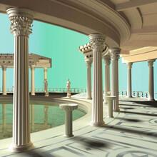 河南廠家批發grc構件水泥grc歐式構件羅馬柱圖片