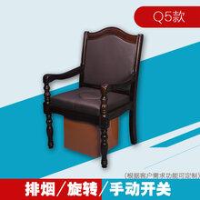 全自动无烟明火艾灸椅仿红木艾灸椅坐灸器图片