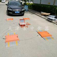 青海果洛20吨四块板静态汽车检测仪便携式称重仪