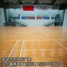 信陽籃球館專用運動木地板第一圖片