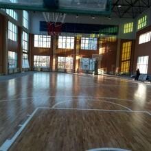 天津双龙体育馆运动木地板平民价格图片