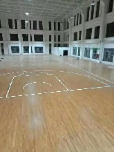 厦门羽毛球馆运动木地板热点图片