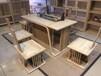 新中式免漆茶几实木家具新中式客厅茶几禅意茶桌椅组合