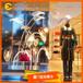 服装商场美陈透明树脂荷叶橱窗装饰道具定制