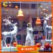 定制玻璃钢铃铛麋鹿圣诞橱窗商场美陈橱窗DP中庭装饰道具