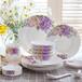 碗碟套裝家用吃飯套碗盤子歐式簡約瓷碗景德鎮陶瓷骨瓷碗碟套裝