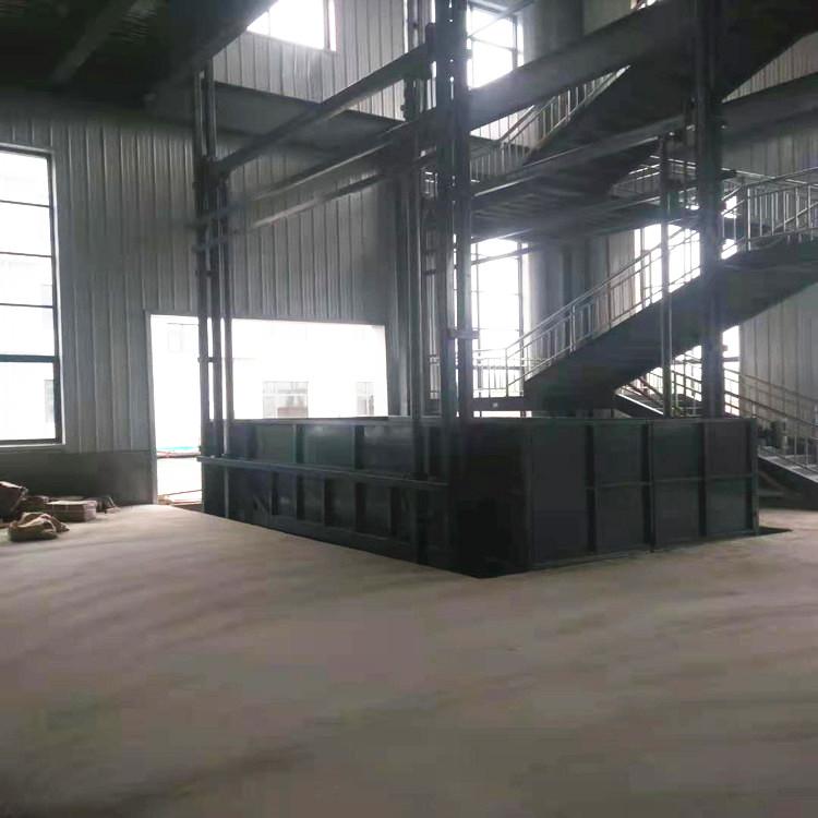 导轨式升降机液压货梯厂家液压式货物运输升降平台