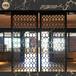 澳门别墅装饰,不锈钢椭圆形屏风,美观时尚可定制