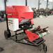 紫花苜蓿飼料打包機移動式青貯包膜機稻草儲存打捆機直銷