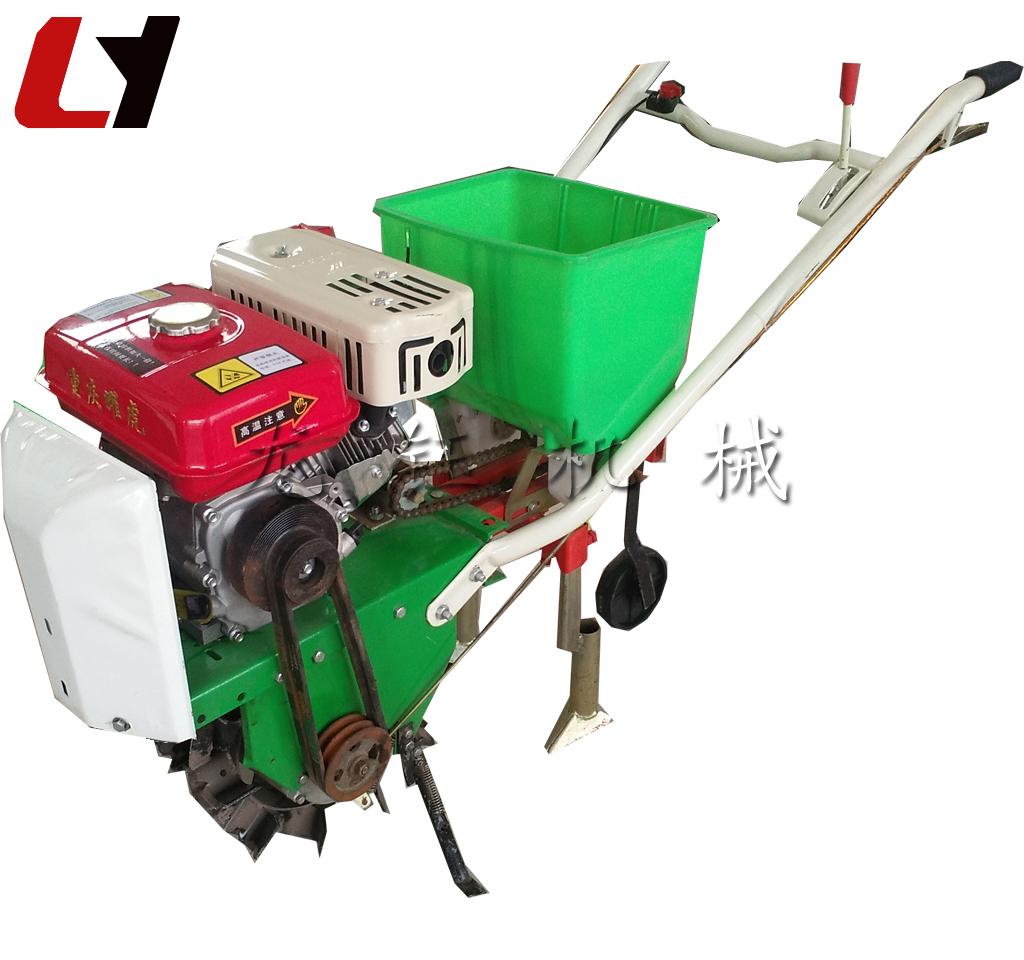 南瓜播种机龙钰机械新品手扶式汽油播种机豆子播种机