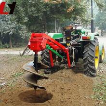 小型拖拉机挖坑机品牌热销家用多功能植树挖坑机冻土层挖坑机图片
