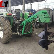 园林拖拉机挖坑机/龙钰牌多用途植树造林挖坑机新款造林挖坑机/手推式植树挖坑机图片