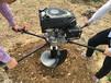 龍鈺挖坑機加工定制中型打樁挖坑機龍鈺懸掛式挖坑機