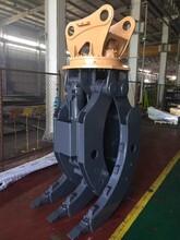 挖土机液压抓爪/龙钰机械多功能固定式抓木器/挖机圆木夹木器图片