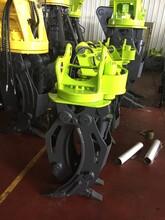 挖机液压抓料器/厂家直销挖掘机液压旋转夹石器/高强度液压夹木器图片