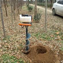 龙钰两冲程挖坑机,中型手提式挖坑机视频图片