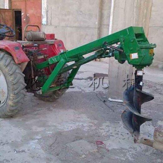 龙钰后置式挖坑机,高产量大马力拖拉机挖坑机