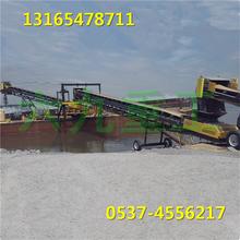 上料装卸带式输送机,防滑耐磨化肥传料机图片