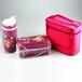 596悠悦繁花便携式保温便当盒套装学生塑料水杯饭盒套装