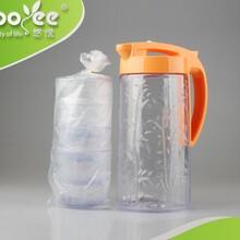 悠悦青竹水壶套装塑料冷水壶创意果汁壶按压式冷水壶厂家直销图片