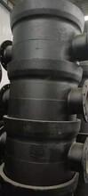 國標球墨鑄鐵四通600x200全盤四通法蘭四通供水鑄鐵管四通圖片