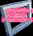 PE塑料印刷网框铝合金印花框配T铁把手(内径4060cm)