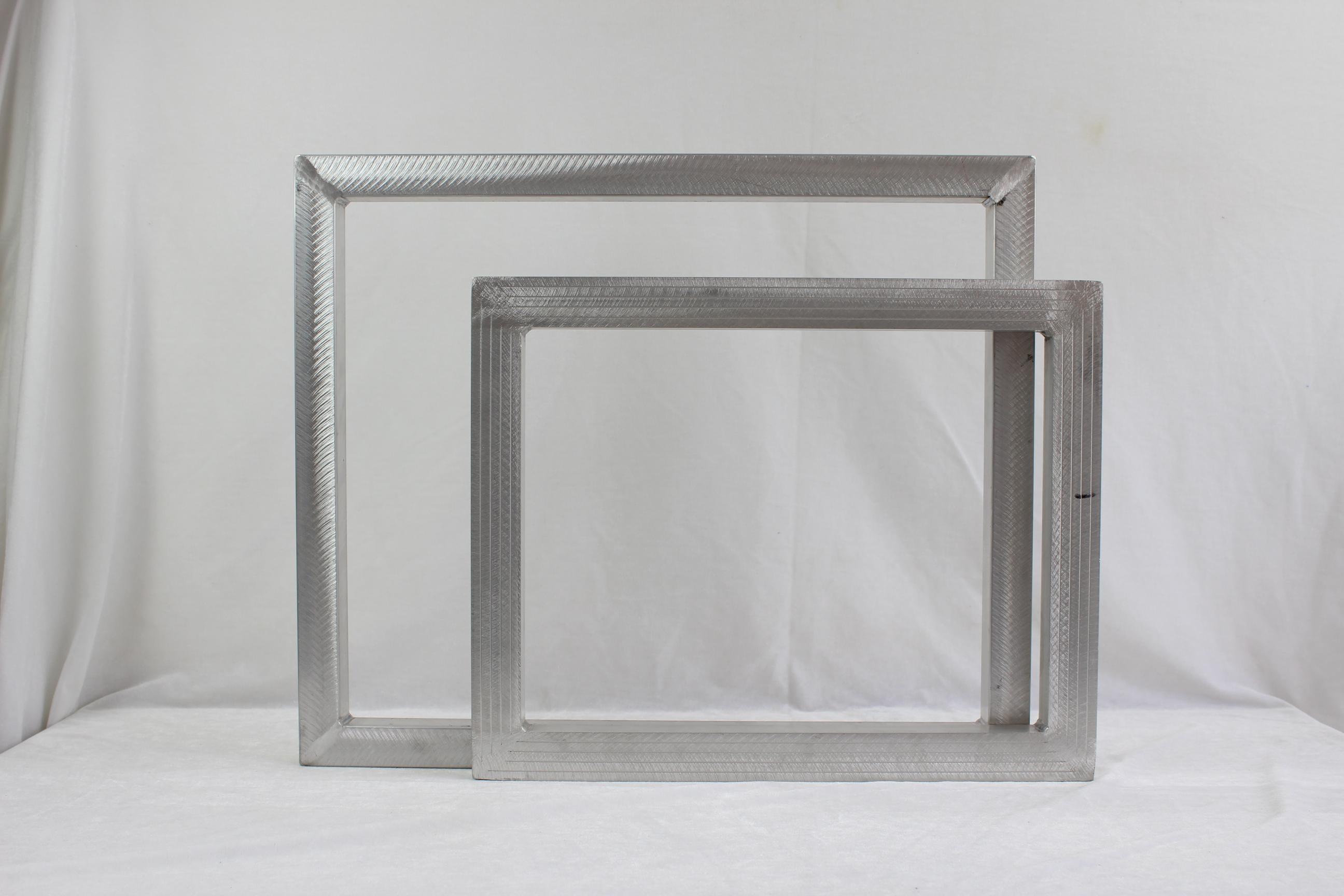 山西丝印机铝框淋浴房玻璃丝印网版铝框手动丝印铝网框厂家