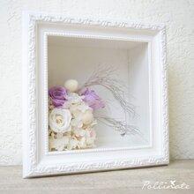 批发永生花相框礼盒玫瑰保鲜花框欧式加厚立体相框画框植物框