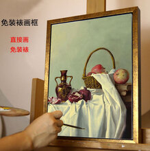 定制免装裱油画框L型简框外框内框现代套装艺术装饰油画布框批发