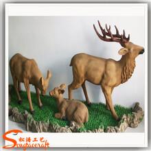 仿真松涛工艺仿真动物雕刻花园装饰人造鹿雕塑