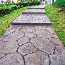 供应潍坊寿光市仿石压花地面材料外观自然真实具立体感