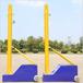 厂家直销多功能学校体育馆男女排球架移动式老年排球网架可升降沙滩排球柱