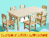 星之健厂家直销儿童实木樟子松课桌椅学前班幼儿园橡木桌椅定做