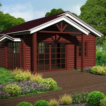 豐順廠家定制庭院花園木屋設計度假公園生態農莊旅游景區木別墅