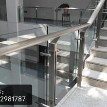 玻璃栏杆专用不锈钢立柱款式高清大图、工程楼梯立柱专业厂家图片