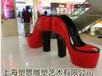 北京玻璃鋼高跟鞋雕塑彩繪高跟鞋座椅雕塑室外環境景觀效果圖