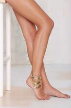 跨境电商脚饰货源欧美热卖波西米亚时尚重工多层流苏链条脚链图片