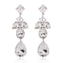 歐美高品質時尚奢華水晶寶石宴會配飾耳環現貨批發E403圖片