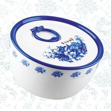507青花圆形小号保鲜盒图片