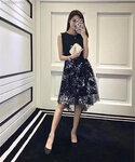 深圳服装厂一件代发修身网纱拼接印花连衣裙各种服装批发订做