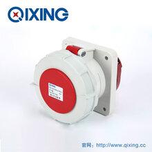 启星QX1124系列暗装插座63A4芯防水工业插座防水暗装插座图片