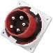 厂家直销启星QX36585P/63AIP67暗装插头防水插头插座